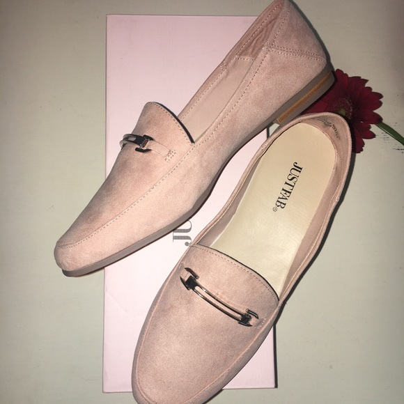 dfe5c9650a9 JustFab Shoes - Aleeza Blush Foldable Loafer💞